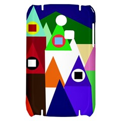 Colorful houses  Samsung S3350 Hardshell Case