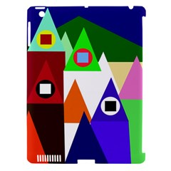 Colorful houses  Apple iPad 3/4 Hardshell Case (Compatible with Smart Cover)