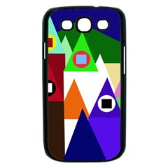 Colorful houses  Samsung Galaxy S III Case (Black)