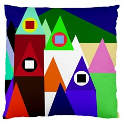 Colorful houses  Large Cushion Case (Two Sides)