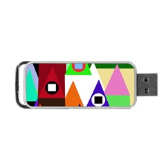 Colorful houses  Portable USB Flash (Two Sides)