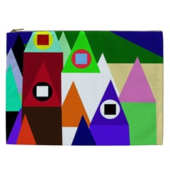Colorful houses  Cosmetic Bag (XXL)