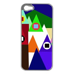 Colorful houses  Apple iPhone 5 Case (Silver)