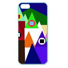 Colorful houses  Apple Seamless iPhone 5 Case (Color)