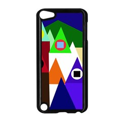 Colorful houses  Apple iPod Touch 5 Case (Black)