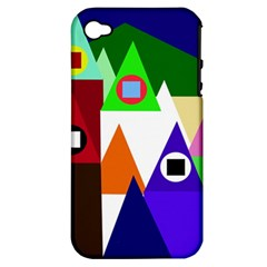 Colorful houses  Apple iPhone 4/4S Hardshell Case (PC+Silicone)