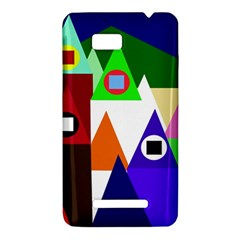 Colorful houses  HTC One SU T528W Hardshell Case