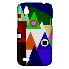 Colorful houses  HTC Desire V (T328W) Hardshell Case