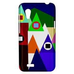Colorful houses  HTC Desire VT (T328T) Hardshell Case
