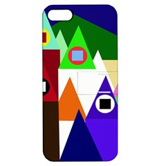 Colorful houses  Apple iPhone 5 Hardshell Case with Stand