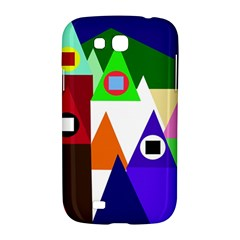 Colorful houses  Samsung Galaxy Grand GT-I9128 Hardshell Case