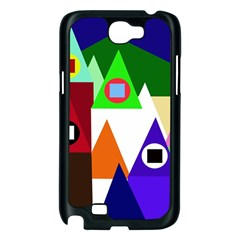 Colorful houses  Samsung Galaxy Note 2 Case (Black)