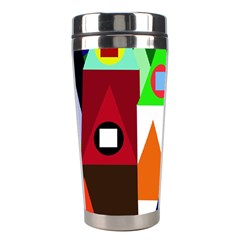 Colorful houses  Stainless Steel Travel Tumblers
