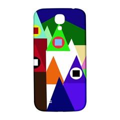 Colorful houses  Samsung Galaxy S4 I9500/I9505  Hardshell Back Case