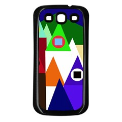 Colorful houses  Samsung Galaxy S3 Back Case (Black)