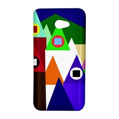 Colorful houses  HTC Butterfly S/HTC 9060 Hardshell Case