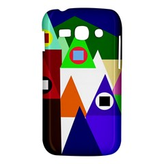 Colorful houses  Samsung Galaxy Ace 3 S7272 Hardshell Case