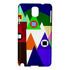 Colorful houses  Samsung Galaxy Note 3 N9005 Hardshell Case