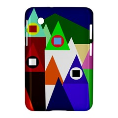 Colorful houses  Samsung Galaxy Tab 2 (7 ) P3100 Hardshell Case