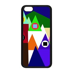 Colorful houses  Apple iPhone 5C Seamless Case (Black)