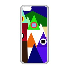 Colorful houses  Apple iPhone 5C Seamless Case (White)