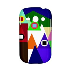 Colorful houses  Samsung Galaxy S6810 Hardshell Case