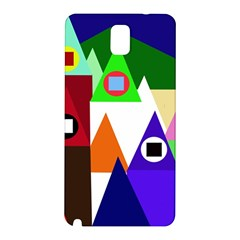 Colorful houses  Samsung Galaxy Note 3 N9005 Hardshell Back Case