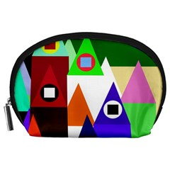 Colorful houses  Accessory Pouches (Large)