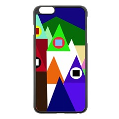 Colorful houses  Apple iPhone 6 Plus/6S Plus Black Enamel Case