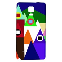 Colorful houses  Galaxy Note 4 Back Case
