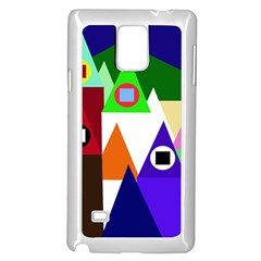 Colorful houses  Samsung Galaxy Note 4 Case (White)