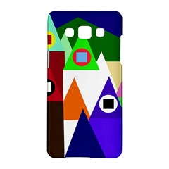 Colorful houses  Samsung Galaxy A5 Hardshell Case