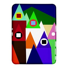 Colorful houses  Samsung Galaxy Tab 4 (10.1 ) Hardshell Case