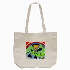 Colorful landscape Tote Bag (Cream)