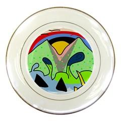 Colorful landscape Porcelain Plates