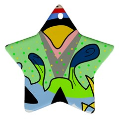 Colorful landscape Star Ornament (Two Sides)