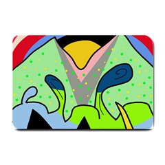 Colorful landscape Small Doormat