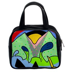 Colorful landscape Classic Handbags (2 Sides)