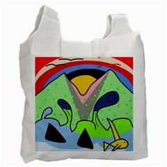 Colorful landscape Recycle Bag (One Side)