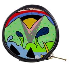 Colorful landscape Mini Makeup Bags