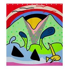 Colorful landscape Shower Curtain 66  x 72  (Large)