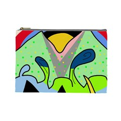 Colorful landscape Cosmetic Bag (Large)