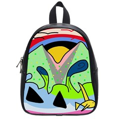 Colorful landscape School Bags (Small)