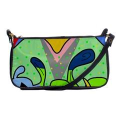 Colorful landscape Shoulder Clutch Bags