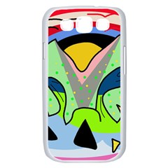 Colorful landscape Samsung Galaxy S III Case (White)