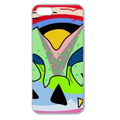 Colorful landscape Apple Seamless iPhone 5 Case (Clear)