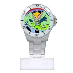 Colorful landscape Plastic Nurses Watch