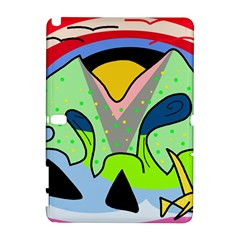 Colorful landscape Samsung Galaxy Note 10.1 (P600) Hardshell Case