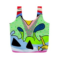 Colorful landscape Full Print Recycle Bags (M)