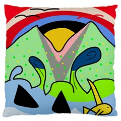 Colorful landscape Large Flano Cushion Case (Two Sides)